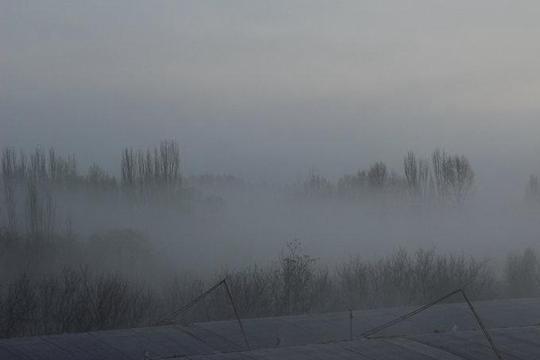大雾弥漫甘肃高台