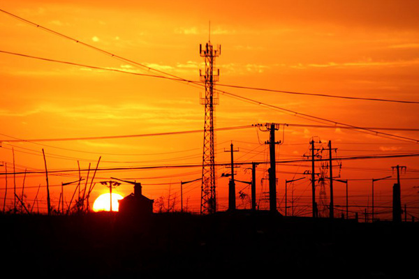 山东威海:夕阳无限好 只是近黄昏