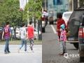 今天(10日),受冷空气影响,江西省气温骤降。今早8点,南昌市的气温为11.1℃,与昨天(9日)同期相比下降了14.5℃。昨天南昌市街头人们还都是夏装出行,一夜之间就像回到了秋冬,人们穿上棉服迎着寒风在街上骑行。(摄影/孙怀珍)