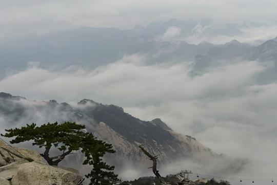 陕西华山:雨后云海竟如此壮观