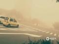 2019年5月11日,新疆哈密伊州区遭遇大风沙尘暴袭击,11日早晨伊州区多地出现大风、沙尘天气,伊州区城区出现沙尘暴,最小能见度228米。(图/李凤琴)