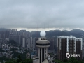 19日早晨8时,贵阳市区仍是乌云密布。(图/石奎)