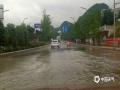 贵阳市区降雨过后,路面出现积水。(图/石奎)