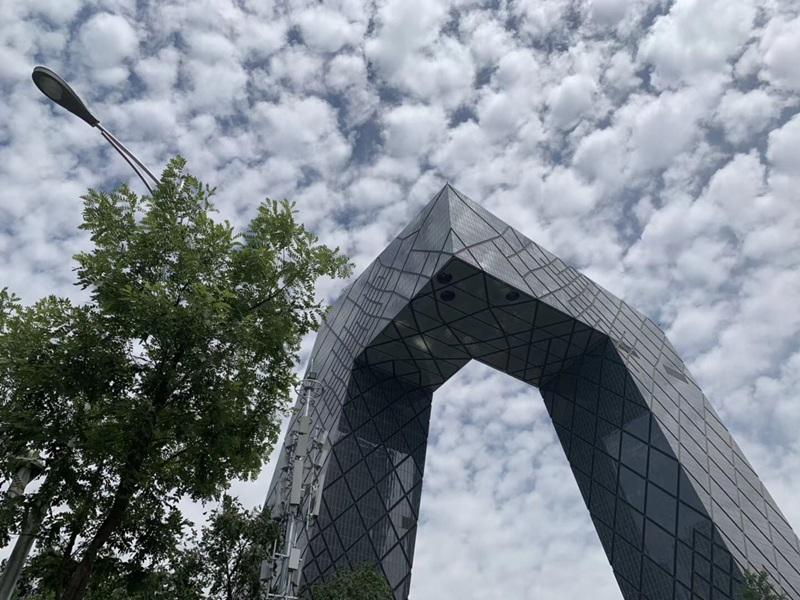 """北京天空惊现""""鱼鳞云""""美景"""