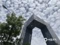 """中国天气网讯 今天(22日),北京天空湛蓝,密布鱼鳞状的云层。据中国天气网气象副首席胡啸介绍,今天北京天空中的云朵学名叫做""""透光高积云"""",云层高度在2000米以上,午后随着气温持续攀升已经逐渐消失。(图/刘轻扬)"""