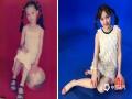 """2000年的六一儿童节,""""相馆、红布、双马尾、羞涩的小小的我""""。转眼19年过去了,当初的小女孩长大了,成了""""相馆、蓝布、双马尾、成熟的大大的我""""。不过,一颗永远相信美好和童话的童心,一直都没有变。(图/文 王颖)"""