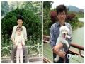 左边是小时候跟爸爸在合肥逍遥津公园合影留念,现在我是他的大宝,右边照片中是他和他的二宝。虽然爸爸和二宝的照片是我拍的,但是我翻遍了手机都没有找到跟爸爸的合影,以后要更多一些时间来陪伴爸爸。(戚珍珠供图)