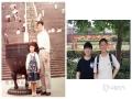 左边是与老爸在南京中山陵游玩,右边是岁月飞逝长大后,和老爸故地重游。老爸,你陪我长大,我陪你变老,永远爱您!(戚珍珠供图)
