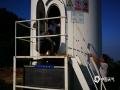 针对汛期雷雨天气的频发,近日,湖南省娄底市新化县气象局组织人员对大熊山风电场进行防雷检测服务,保障风电设施安全高效运行。据悉,大熊山风电场共有25座风力发电机,防雷检测人员通常需花费4-5天才能完成检测。图为正在进行检修的风力发电机。(文/黎琼萍 图/黄建国)