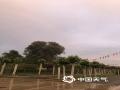 中国天气网讯 今天(17日),北京晚高峰开始出现全市性雷雨天气。降雨来的快,去的也快,雨过天晴,北京多地现彩虹。图为顺义雨过现彩虹。图/周瑶