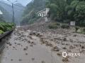 浙江入梅以来受持续强降雨影响,17日08时至21日08时,全省平均雨量84毫米,共有42个县(市、区)超过100毫米,其中长兴199毫米、桐庐192毫米、南浔177毫米。6月19日杭州桐庐多地出现不同程度的滑坡、落石、塌方、泥石流等灾害。图为桐庐强降雨引发泥石流。(图/浙江省气象安全技术中心)