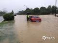 浙江入梅以来受持续强降雨影响,17日08时至21日08时,全省平均雨量84毫米,共有42个县(市、区)超过100毫米,其中长兴199毫米、桐庐192毫米、南浔177毫米。6月19日杭州桐庐多地出现不同程度的滑坡、落石、塌方、泥石流等灾害。图为桐庐内涝严重,车辆被淹熄火。(图/浙江省气象安全技术中心)