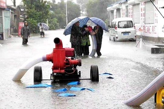 臺風影響遼寧 住建部門緊急抽水防內澇