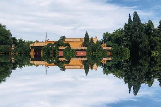 """今天的北京美得让人心动!""""天空之镜""""惊艳上演"""