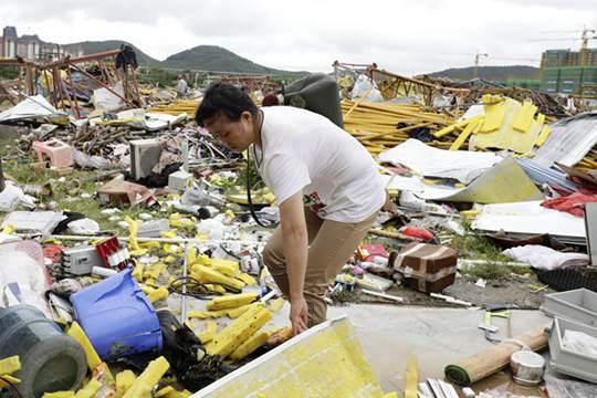 龍卷風襲擊海南儋州 直擊災后現場