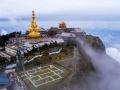 云雾中的气象站  如梦如幻似仙境