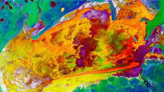 你没见过的色彩斑斓美如画的地球