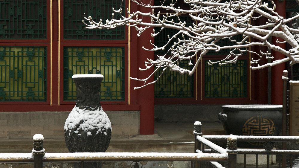 北京颐和园雪景甚是迷人