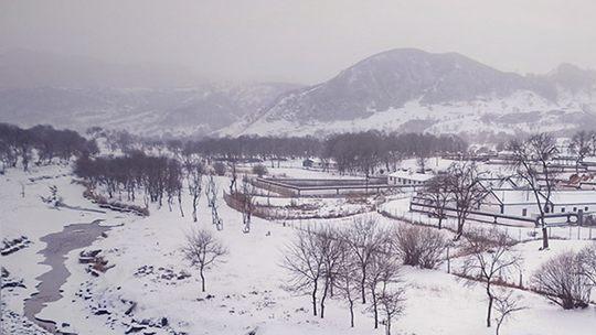 雪后的河北围场 美成一幅水墨画