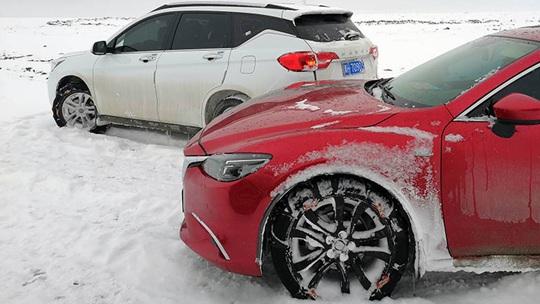 柴达木盆地出现降雪 积雪扰春运