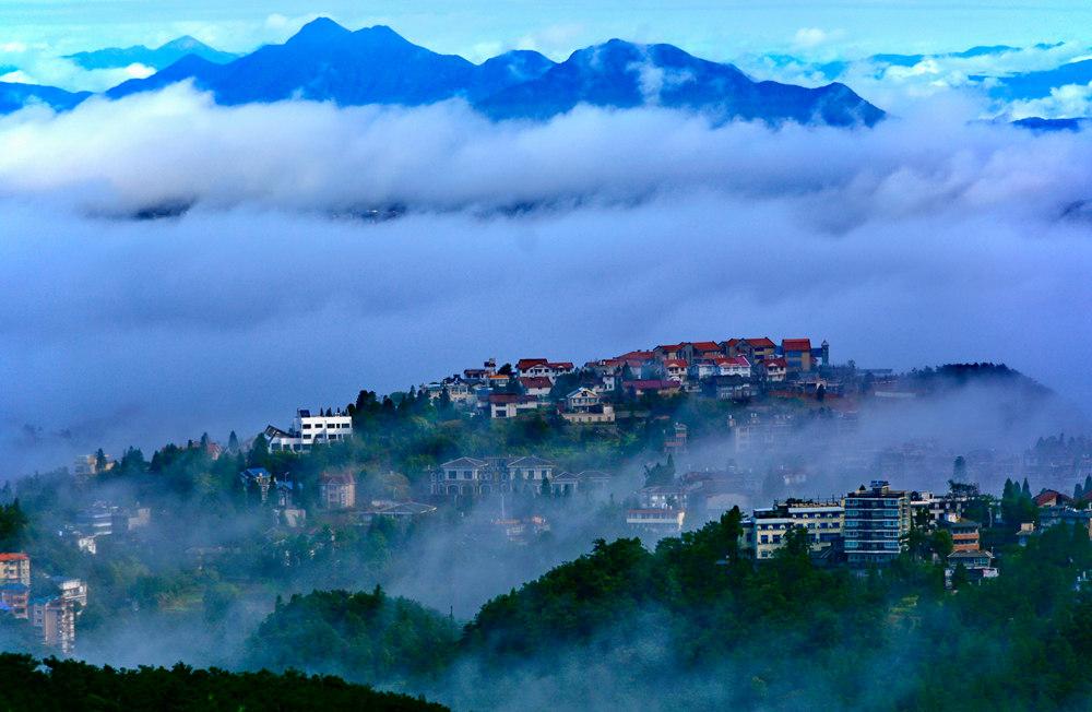 福州鼓山云海奇觀 云霧繚繞如仙境