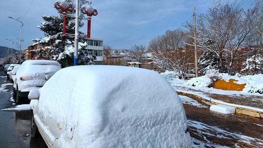 河北张家口崇礼:冬奥之城再飞雪