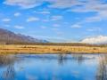 新疆溫泉縣雨過天晴 天空湛藍美如油畫