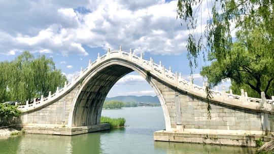 """天蓝水绿 雨后北京颐和园很是""""小清新"""""""