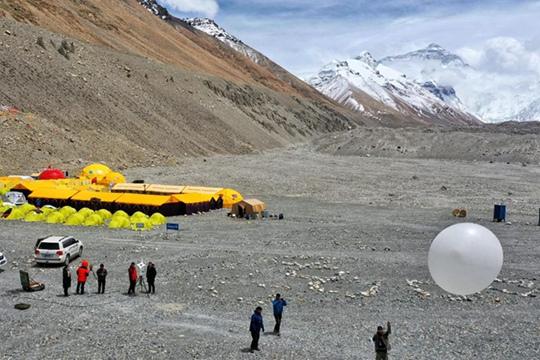 珠峰高程测量气象保障服务