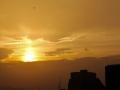 美的耀眼!北京金色夕阳光芒四射