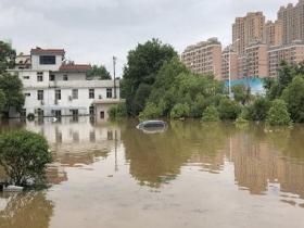 江西中北部遭强降雨 房屋被毁车辆农田被淹