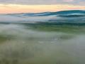 内蒙古大兴安岭:云雾弥漫山峦间 景色奇幻如仙境