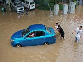 直擊四川樂山洪水現場 城市內澇嚴重