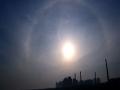 美輪美奐!哈爾濱上空出現日暈和環天頂弧景觀