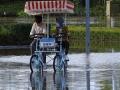 超警戒线洪峰来袭 黑龙江抚远市沿江积水较深农作物受灾