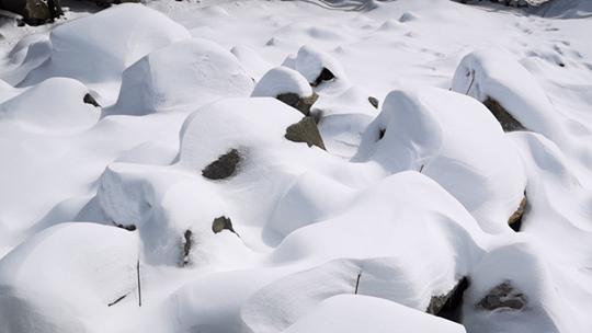 四川达古冰川白雪皑皑 宛如仙境
