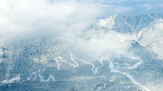 冬季四川光霧山 冰天雪地似仙境