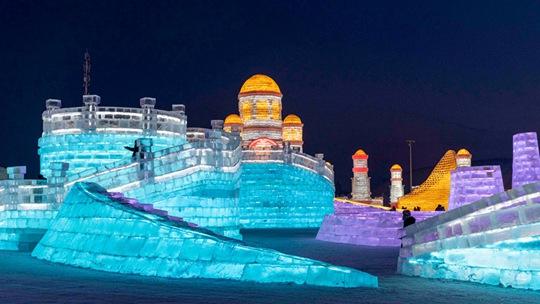 哈爾濱冰雪大世界即將開園 現場圖提前一睹為快