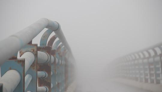 一片模糊!今晨山東威海遭遇強濃霧天氣