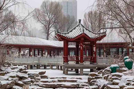 青海降雪冬韵足 粉妆玉砌如童话世界