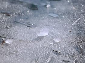 """""""五九""""冰水相融 绘就北京昆玉河冬日之美"""