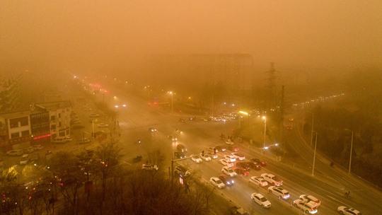 一组图回顾北方今年首场大范围沙尘天气