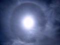 河北崇礼蓝天在线 天空出现日晕奇观