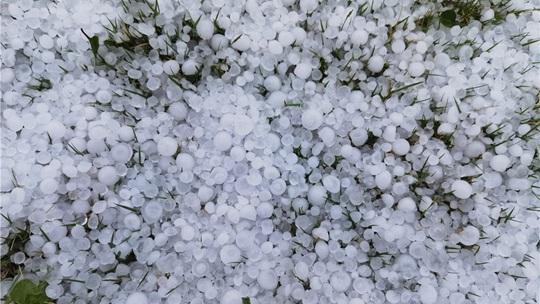 劈里啪啦!云南文山州突降冰雹