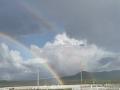 """惊喜!内蒙古图里河镇出现""""双彩虹"""""""