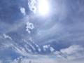 驚艷!青海湟中天空現日暈和環地平弧