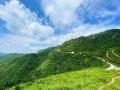 藍天白云映青山 北京長峪城風景如畫