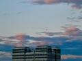北京云朵五彩斑斓 如油画般美丽