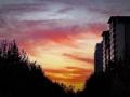 桃紅艷粉!北京今晨朝霞絢爛 開啟美好一天