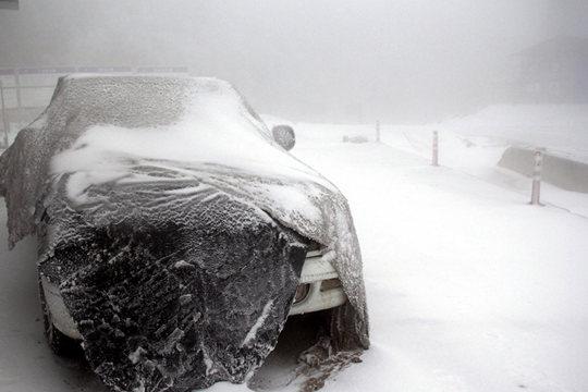 资源高山大雪道路瘫痪